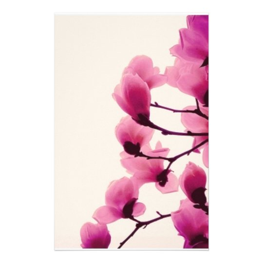 Purple Blossoms Stationery
