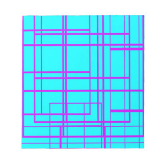 Purple & Blue Abstract Design Notepad