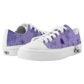 Purple blue abstract distressed pattern Low-Top sneakers
