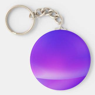 Purple/Blue Abstract Keychain Basic Round Button Keychain