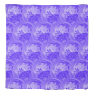 Purple Blue Abstract Swirl Duvet Cover