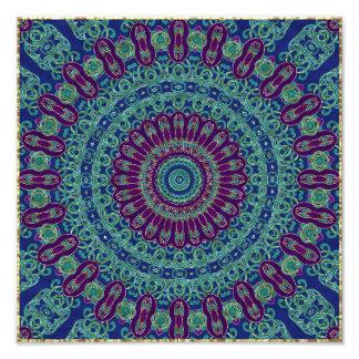Purple, Blue and Green Mandala Art Photo