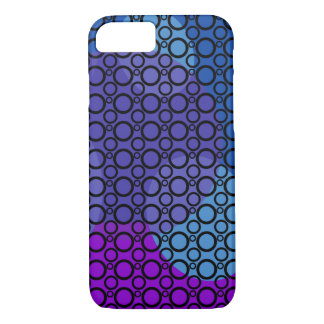 Purple, Blue and Pink Curves Under Black Circles iPhone 7 Case