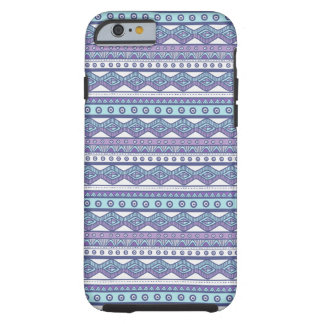 Purple Blue Aztec Stylish Tough iPhone 6 Case