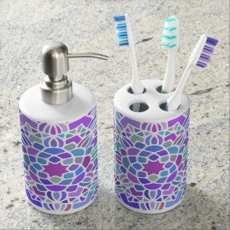 Purple Blue Bold mandala bath decor Bathroom Set