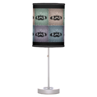 Purple Blue Brown Green Pattern Sketch Butterflies Table Lamp