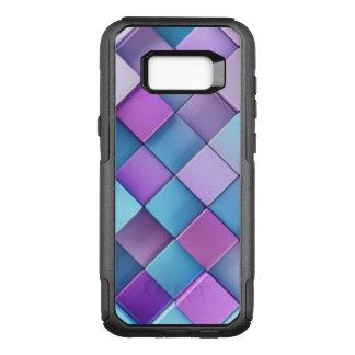 Purple Blue Checker Board Pattern Design OtterBox Commuter Samsung Galaxy S8+ Case