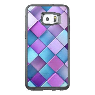Purple Blue Checker Board Pattern Print Design