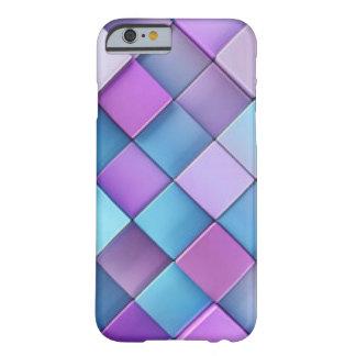 Purple Blue Checker Board Pattern Print Design Barely There iPhone 6 Case