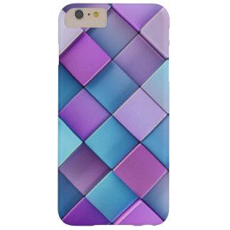 Purple Blue Checker Board Pattern Print Design Barely There iPhone 6 Plus Case