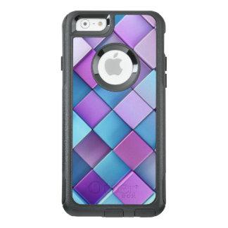Purple Blue Checker Board Pattern Print Design OtterBox iPhone 6/6s Case