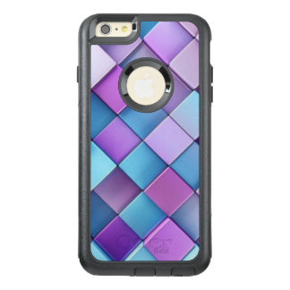 Purple Blue Checker Board Pattern Print Design OtterBox iPhone 6/6s Plus Case