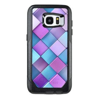 Purple Blue Checker Board Pattern Print Design OtterBox Samsung Galaxy S7 Edge Case
