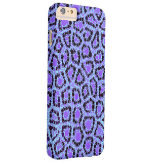 Purple Blue Cheetah Circle Abstract Barely There iPhone 6 Plus Case