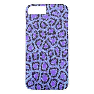 Purple Blue Cheetah Circle Abstract iPhone 7 Plus Case