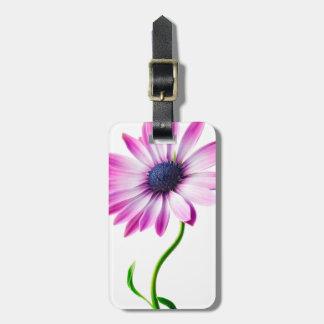 Purple Blue Daisy Flower Floral Daisies Flower Bag Tags