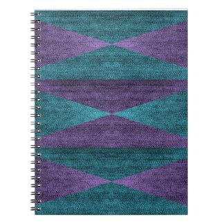 Purple & Blue Denim Notebook (80 Pages B&W)