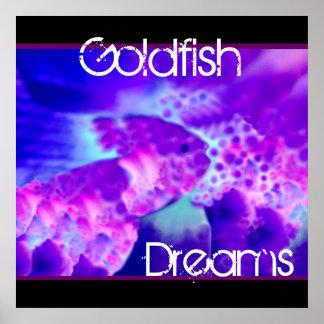 Purple & Blue Goldfish Dreams Wall Decor