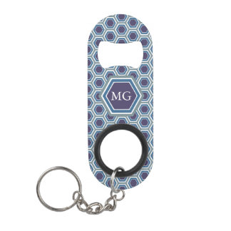Purple, Blue & Green Honeycomb - Bottle Opener Keychain Bottle Opener