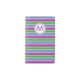 Purple/Blue/Green Stripes Pocket Moleskine Notebook