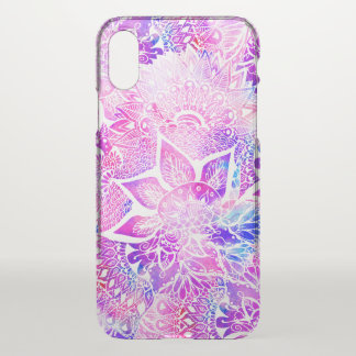 Purple blue henna boho floral mandala pattern iPhone x case