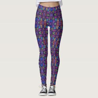(purple & blue horizon HAWT edition) Leggings