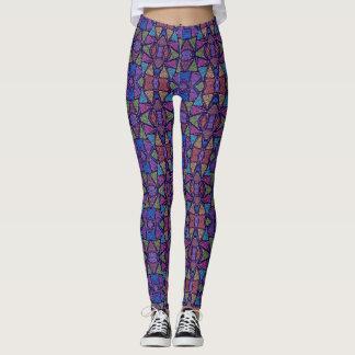 (purple & blue horizon) leggings