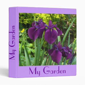"""Purple Blue Irises"" Garden Planner/Album Binders"