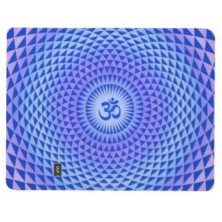 Purple Blue Lotus flower meditation wheel OM Journal