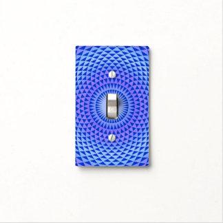 Purple Blue Lotus flower meditation wheel OM Light Switch Cover
