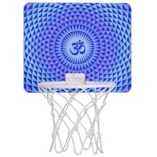 Purple Blue Lotus flower meditation wheel OM Mini Basketball Hoop