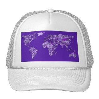Purple blue map trucker hat