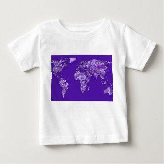 Purple blue map tees