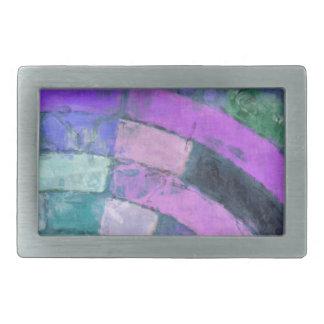 Purple Blue Mosaic Belt Buckle