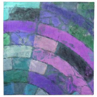 Purple Blue Mosaic Napkin