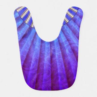 Purple Blue Ombre Fan Bib