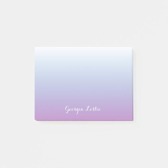 Purple Blue Ombre Gradient Personalized Post-it Notes
