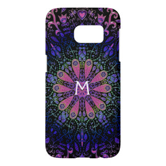 Purple Blue Pink Floral Lace Mandala Samsung Galaxy S7 Case