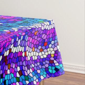 Purple Blue Pink Mosaic Tile Pattern Tablecloth