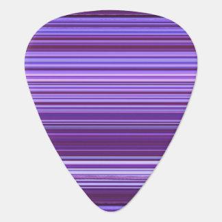 Purple Blue Pink Striped Pattern Guitar Pick