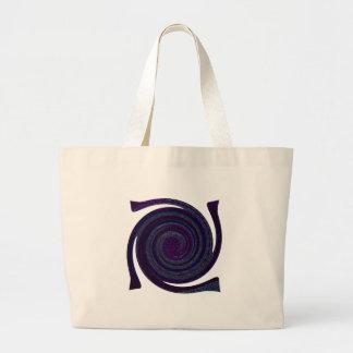 Purple blue Spiral abstract art Canvas Bag