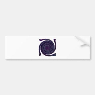Purple blue Spiral abstract art Bumper Sticker