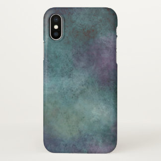 Purple Blue Teal Grunge Watercolor Texture iPhone X Case