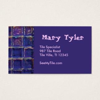 purple/blue tile business card