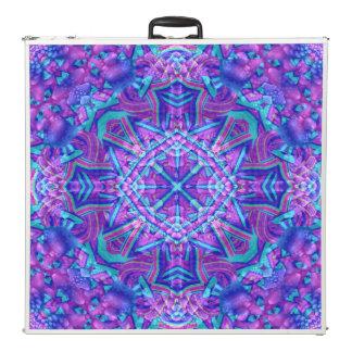 "Purple & Blue Vintage Kaleidoscope  96"" Pong Table"