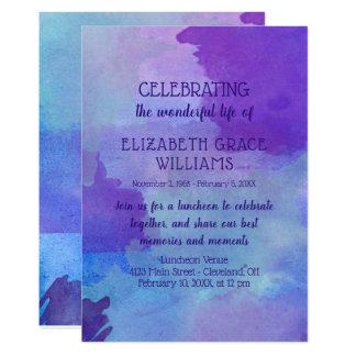 Purple & Blue Watercolor Life Celebration Card