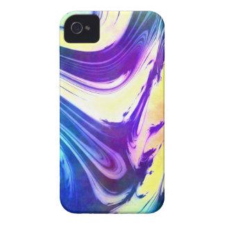 Purple Blue Yellow Swirl Art Blackberry Phone Case iPhone 4 Case-Mate Cases