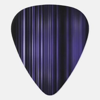 Purple blurred stripes pattern guitar pick