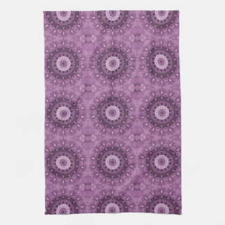 Purple Boho Chic Abstract Kaleidoscope Towels