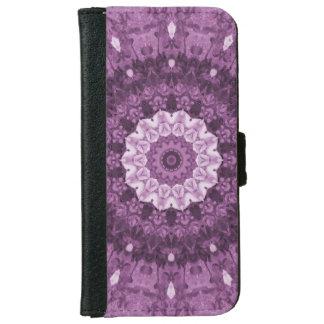Purple Boho Ethnic Abstract Kaleidoscope iPhone 6 Wallet Case